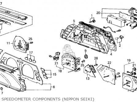 Honda CIVIC 1986 (G) 4DR GL (KA) parts lists and schematics