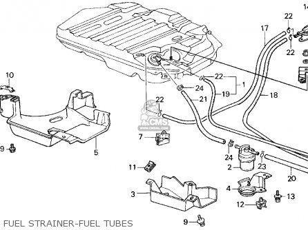 Honda Civic 1987 3dr Dx 1500 (ka,kl) parts list
