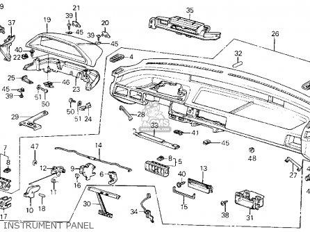 Honda CIVIC 1987 (H) 3DR DX 1500 (KA,KL) parts lists and