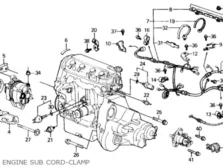 Honda Civic 1988 4dr Dx (ka,kl) parts list partsmanual