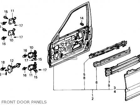 Honda Civic 1988 4dr Dx (ka,kl) parts list partsmanual