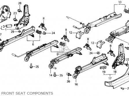 Honda Civic 1988 4dr Lx (ka,kl) parts list partsmanual