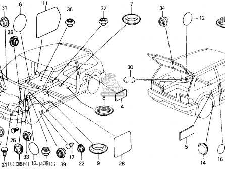 Honda Civic 1988 (j) 3dr Dx (ka,kl) parts list partsmanual