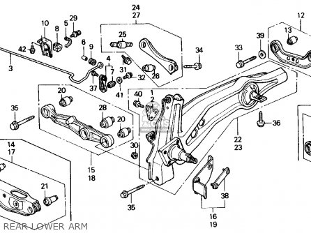 Honda Civic 1988 (j) 3dr Dx (ka,kl) parts list partsmanual