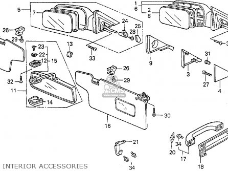 Honda Civic 1988 (j) 4dr Dx (ka,kl) parts list partsmanual