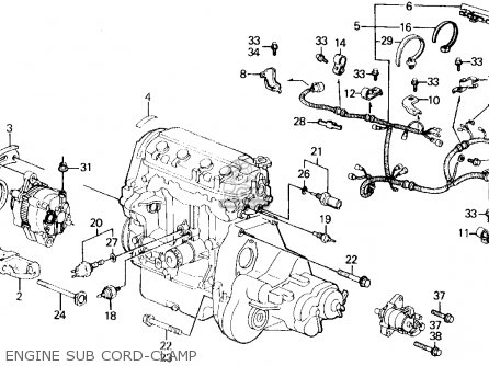 Honda Civic 1989 3dr Si (ka,kl) parts list partsmanual