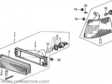 Honda Civic 1989 3dr Si (ka,kl) parts list partsmanual