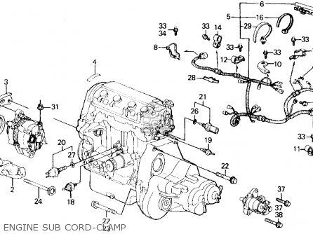 Honda Civic 1989 3dr Std (ka,kl) parts list partsmanual
