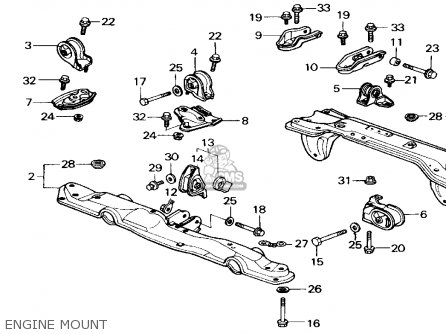 Honda Civic 1989 4dr Dx (ka,kl) parts list partsmanual