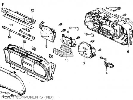 Honda Civic 1989 4dr Lx (ka,kl) parts list partsmanual