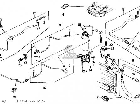 Honda Civic 1989 (k) 3dr Dx (ka,kl) parts list partsmanual