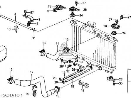 Honda Civic 1989 (k) 3dr Si (ka,kl) parts list partsmanual