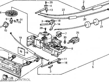 Honda Civic 1989 (k) 3dr Std (ka,kl) parts list