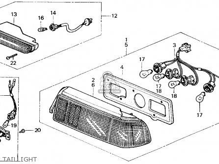 Honda CIVIC 1989 (K) 3DR STD (KA,KL) parts lists and