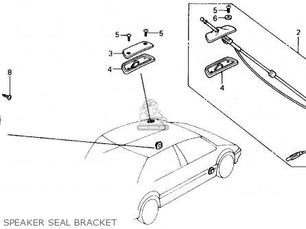Honda CIVIC 1989 (K) 4DR DX (KA,KL) parts lists and schematics