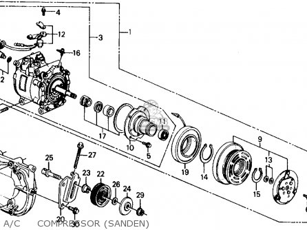 Honda Civic 1990 3dr Dx (ka,kl) parts list partsmanual
