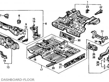 Honda Civic 1990 4dr Dx (ka,kl) parts list partsmanual