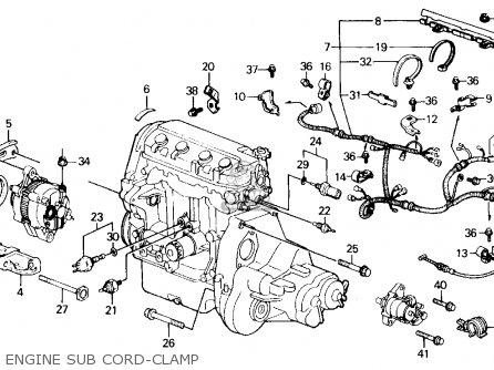 Honda Civic 1990 4dr Ex (ka,kl) parts list partsmanual