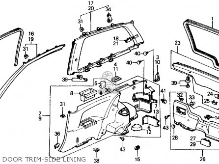 Honda Civic 1990 (l) 3dr Si (ka,kl) parts list partsmanual