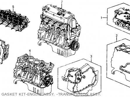 Honda Civic 1990 (l) 3dr Si (ka,kl) parts list partsmanual