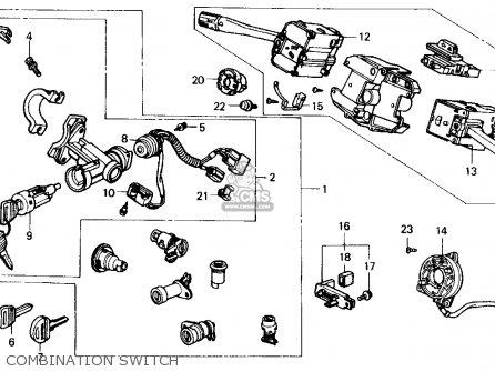Honda Civic 1990 (l) 4dr Lx (ka,kl) parts list partsmanual