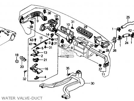 Honda CIVIC 1990 (L) 4DR LX (KA,KL) parts lists and schematics