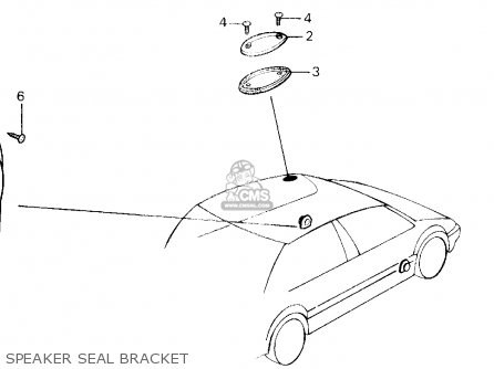 Honda Civic 1991 3dr Std (ka,kl) parts list partsmanual
