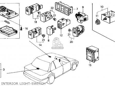 Honda CIVIC 1991 (M) 4DR LX (KA,KL) parts lists and schematics