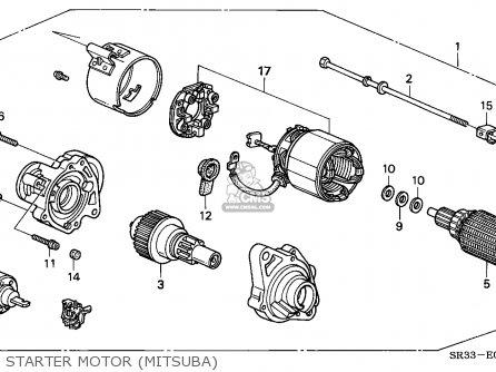 Honda Civic 1992 3dr Vx (ka,kl) parts list partsmanual