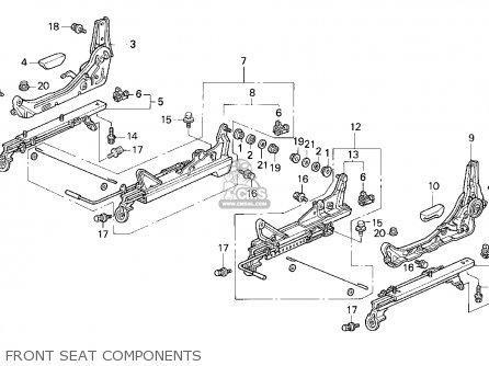 Honda Civic 1992 4dr Lx (ka,kl) parts list partsmanual