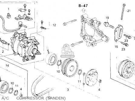Honda Civic 1993 3dr Cx (ka,kl) parts list partsmanual
