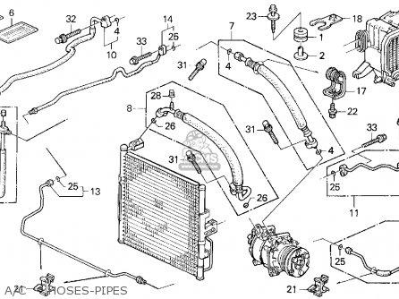 Honda Civic 1993 3dr Vx (ka,kl) parts list partsmanual