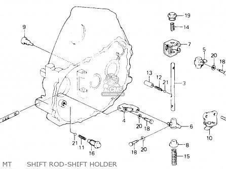 Honda Civic 1993 (p) 3dr Vx (ka,kl) parts list partsmanual