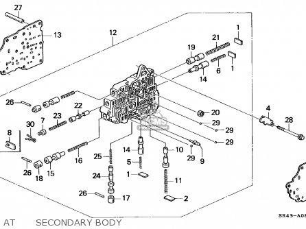 Honda CIVIC 1993 (P) 4DR EX ABS (KA,KL) parts lists and