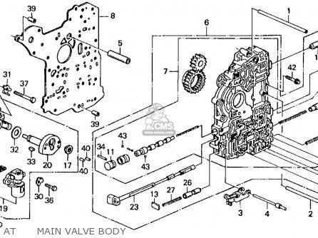 Honda CIVIC 1993 (P) 4DR LX (KA,KL) parts lists and schematics