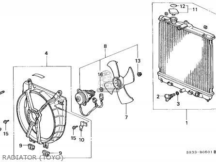 Honda Civic 1994 3dr Vx (ka,kl) parts list partsmanual