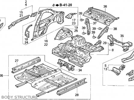 Honda CIVIC 1994 (R) 2DR EX (KA,KL) parts lists and schematics