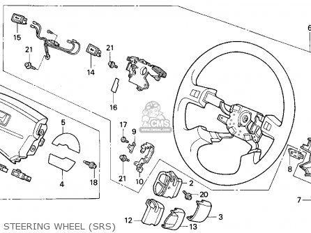 Honda CIVIC 1994 (R) 2DR EX (KA,KL) parts lists and schematics