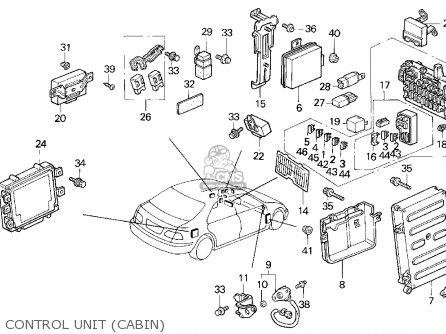 Honda Civic 1995 4dr Ex Abs (ka) parts list partsmanual
