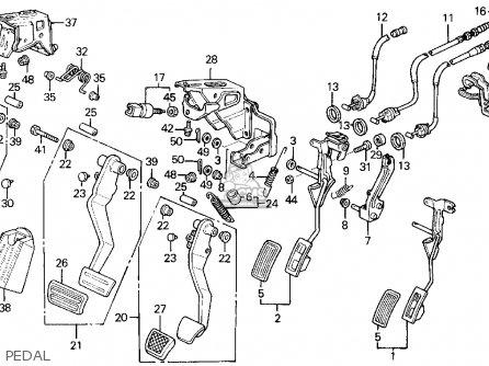 Honda Civic 1995 (s) 2dr Ex (ka) parts list partsmanual