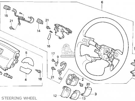 Honda CIVIC 1995 (S) 3DR CX (KA) parts lists and schematics