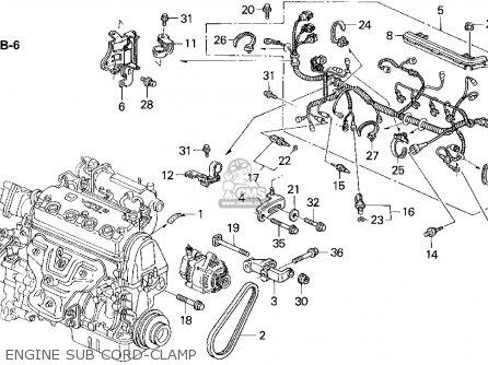 Honda Civic 1995 (s) 4dr Lx Abs (ka) parts list