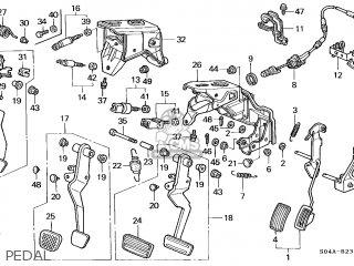 Honda CIVIC 1999 (X) 4DR LX (KA) parts lists and schematics