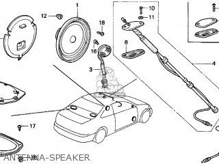 Honda CIVIC 2000 (Y) 2DR DX (KA) parts lists and schematics