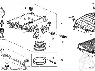 Honda CIVIC 2001 (1) 4DR GX SIDE SRS (KA) parts lists and