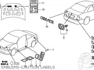 Honda CIVIC 2003 (3) 2DR DX (KA) parts lists and schematics
