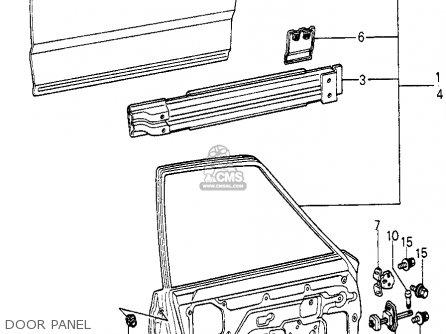 Honda Civic Htbk/wagon 1980 (a) Wgn (ka,kh,kl) parts list