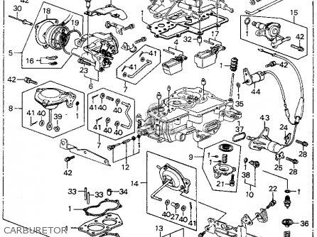 Honda Civic Htbk/wagon 1981 3dr Fe 1300 (ka,kh,kl) parts