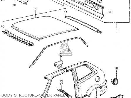 Honda Civic Htbk/wagon 1981 3dr1500 (ka,kh,kl) parts list
