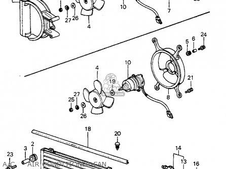 Honda Civic Htbk/wagon 1982 3dr1300 (ka,kh,kl) parts list